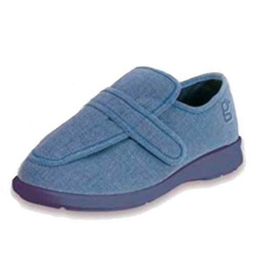 Zapato especial pie diabético azul